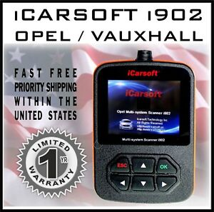 Icarsoft I902 For Opel Obd2 Multi System Diagnostic Scan Tool Clear Error Codes