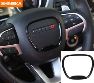 Steering Wheel Center Trim Ring Cover For Dodge Charger Challenger 2015 19 Black