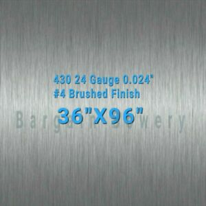36 X 96 Stainless Steel Sheet Wall Covering 4 Brushed 24 Gauge 0 024