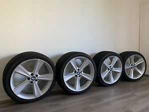 Bmw Rims Tires Set X5 X6 Oem Genuine Style 128 21 Staggered Wheels