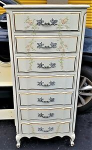 1 Dixon Powdermaker Vintage French Louis Xv Style Semainier Lingerie Chest