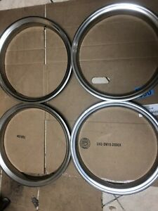 16 Stainless Steel Trim Rings Used Fit Most Cars And Trucks 1 3 4 Deep