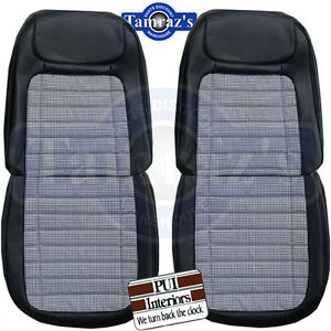 1968 Camaro Houndstooth Deluxe Front Rear Seat Upholstery Covers Pui New
