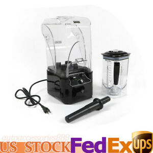 Commercial Soundproof Smoothie Maker Electric Blender W Soundproof Cover 2 2kw