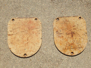 1955 1956 1957 Chevy Sedan Delivery Rear Shock Covers rare