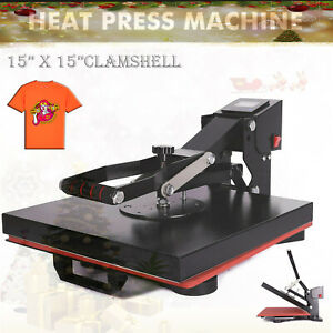 15 X 15 Clamshell Heat Press Machine Diy T shirt Sublimation Digital Transfer