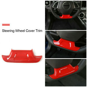 Steering Wheel Cover Trim For Chevrolet Camaro 2017 2019 Red Parts Accessories