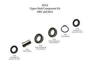 Upper Wheel Components Fits 6614 And 6801
