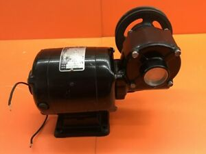 Bodine Electric Nsh 34rh Gearmotor With Pully Wheel 115v 1 7 Amp 5000 Rpm 1