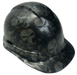 Hydro Dipped Hard Hat Ridgeline Cap Style Custom Metallic Graphite Punisher