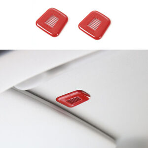 2 Car Top Microphone Cover Trim For Jeep Compass Grand Cherokee Renegade 2017 19