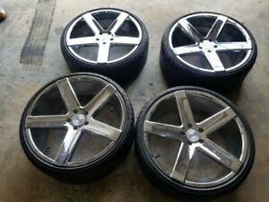 4 22 Heavy Hitters Hh 15 All Chrome Wheels Tires Bmw 7 Series Chevy Camaro