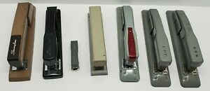 7 Vtg Swingline Office Metal Stapler Lot Heavy Duty 27 400 407 444 747 Tot 50