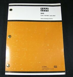 Case Dh5 Trencher Tractor Backhoe Plow Parts Manual Book S n 1187961