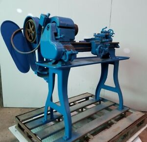 Logan Gear Lathe 12 Spindle Speeds 6 9375 Bed Width 43 125 Bed Length