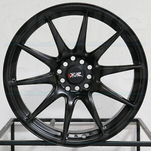 4 new 16 Xxr 527 Wheels 16x8 25 4x100 4x114 3 0 Flat Black Rims