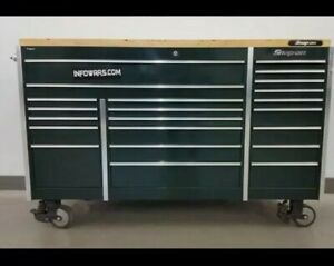 Snap On Tool Box Krl1023 72x29 Top And Cover Mica Green Delivery Available