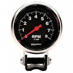 Autometer 2893 2 5 8 In Pedestal Tachometer 0 8 000 Rpm Traditional Chrome B