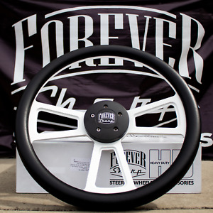 18 Big Rig Steering Wheel Matte White Muscle With Carbon Fiber Vinyl Grip Wrap