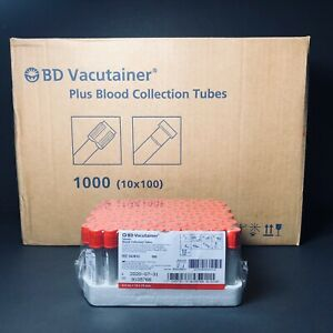 Bd 367812 Vacutainer Collection Tubes Red Top 4 0ml 1 Case 1000 Exp 07 2020