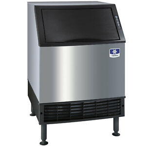 Manitowoc 26 Air Cooled Undercounter Half Dice Cube Ice Machine With 90 Lb Bin