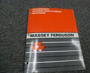 Massey Ferguson Mf 130 135 150 165 Tractor Accessories Parts Mart Catalog Manual