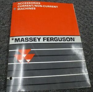 Massey Ferguson Mf 300 410 540 550 Combine Accessories Parts Mart Catalog Manual