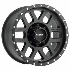Four 4 18x9 Method Race Mr306 Mesh Et 12 Black 8x6 5 Wheels Rims