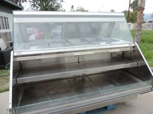 Barker Hot Food Merchandiser Heated Glass Display Case Enclosed And Front Load