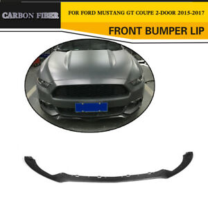 Front Bumper Lip Spoiler Body Kits Fit For Ford Mustang 2015 2017 Carbon Fiber