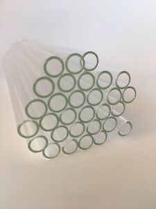 30 Pieces 8 long 10 Mm Od 8 Id Clear Glass Pyrex Blowing Tubes 1mm Thick Wall