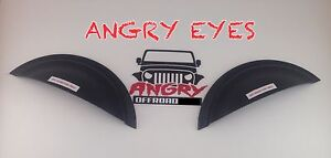 Angryoffroad Jeep Wrangler Jk Tj Cj Angry Eyes Headlight Trim