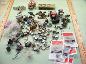 Huge Lot Vintage Switches Toggle Micro Small Large Rotary New Used