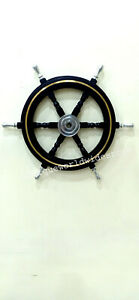 Vintage Ship Wheel Wooden Nautical Maritime Ship Wheel Well Decor Office