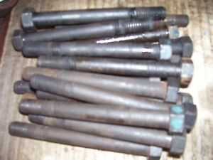 Vintage Fordson Major Diesel Tractor engine Head Bolt Set