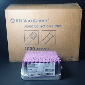 Bd Vacutainer 367861 K2 Edta Collection Tubes 4ml 1 Case 1000 08 20