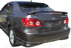Fit Toyota Corolla Ce Le Xle Xrs Black Abs Rear Window Roof Visor Spoiler Wing