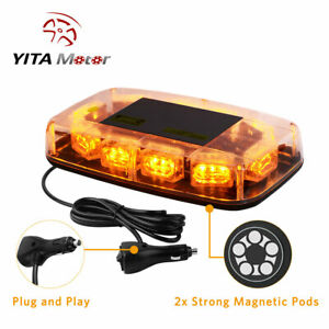 Amber Rooftop Strobe Light Bar 30 Led Emergency Warning Flash Safety Signal Lamp