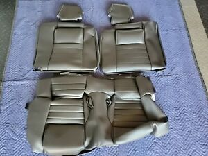 Mustang 2010 2014 Rear Seat Leather Covers Only Recaro Black