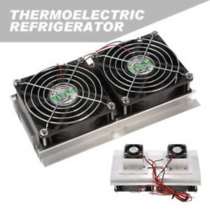 Thermoelectric Peltier Cooling System Semiconductor Radiator Module Double Fan