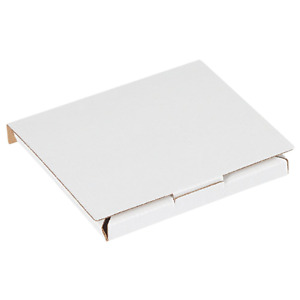 Corrugated Cardboard Cd Mailers 1 Disc Capacity Shipping Boxes Small White 50pk