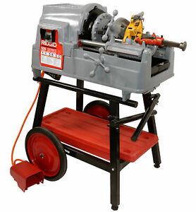 Reconditioned Ridgid 535 V3 Pipe Threader With Steel Dragon Tools 150a Cart