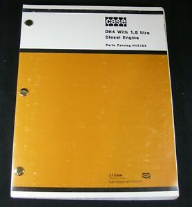 Case Dh4 Trencher Tractor With 1 8 Liter Diesel Engine Parts Manual Book Catalog