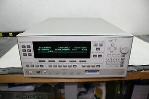 Agilent Hp 83620b 10 Mhz 26 5 Ghz Synthesized Sweeper Opt 26 Freq Extension
