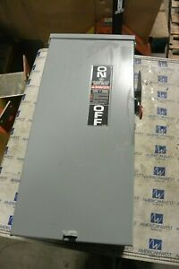 Tg3223r Ge 100 Amp 240 Volt Fusible 3r Outdoor 1 Phase Disconnect Switch Used