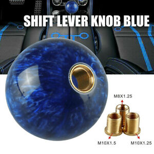 Gear Shifter Round Ball Shift Knob Fit For Short Throw Selector M12x1 25 Blue
