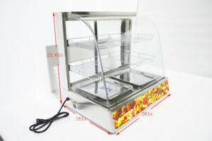 Warmer Pizza Food Heated Display Case Cabinet Countertop Commercial Usa Premium