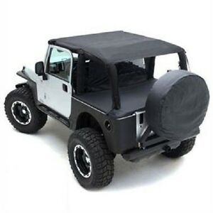 Smittybilt 1997 2006 Fits Jeep Wrangler Tj Rubicon Black Denim Summer Top Bundle