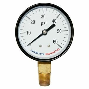 Pressure Gauge 60 Psi 2 1 2 Diameter 1 4 Npt Bottom Mount Pool Water Pump