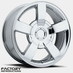 4 22 Chevrolet Silverado Ss Style 1500 Chrome Wheels Rims Fits For 07 18
